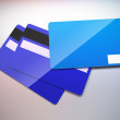 Plastic credit cards. — Stock Photo