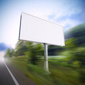 Billboard on the highway. — Stock Photo