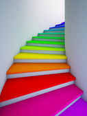 Escalier colorée à l'avenir. — Photo