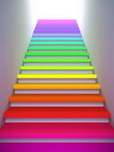 Colorful stair to the future. — Stock Photo