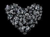 Heart of diamonds — Stock Photo
