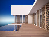 Modern house in minimalist style. — Stock Photo