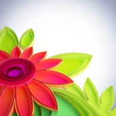 Kolorowy kwiat w quilling techniki. — Zdjęcie stockowe