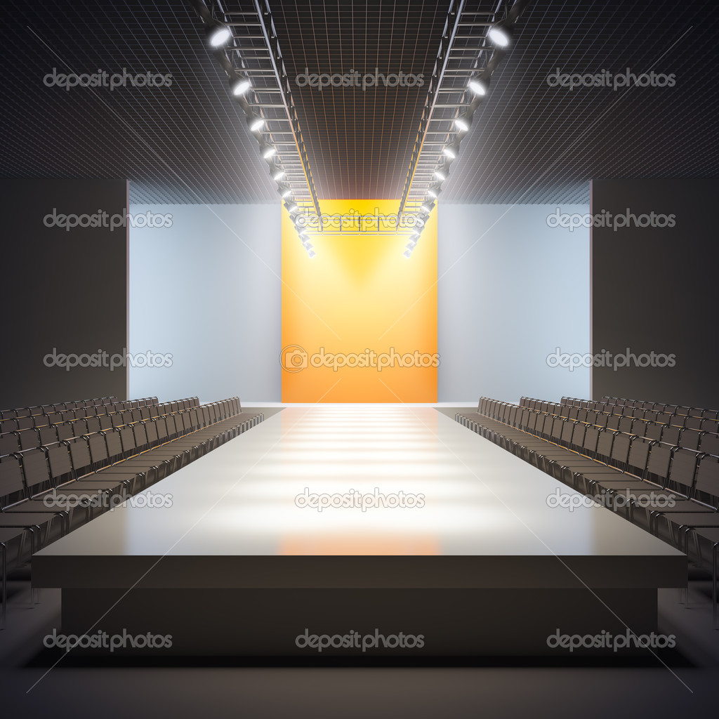A 3D illustration of fashion empty runway. — Stock Photo #6594825