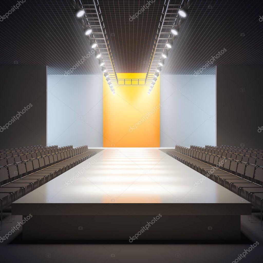 Fashion empty runway stock photo nav 6594825 for Runway fashion show video