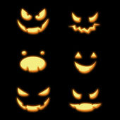 Halloween pumpkins smileys — Stock Photo