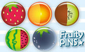 Fruity pins — Stock Vector