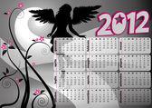 2012 gothic calendar — Stock Vector
