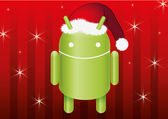 Christmas Android — Stock Vector