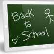 Stock Photo: Tablet pc back to school