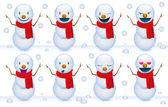 Smile snowmen — Stock Vector