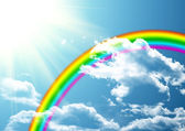 Rainbow in clouds — Stock Photo