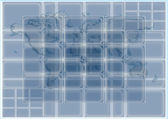 3D glass rectangles abstract background — Stock Photo