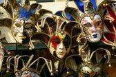 大量的面具 — 图库照片