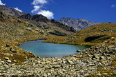 Lake on alps — Foto Stock