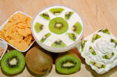 Colazione con kiwi — Stock Photo