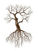 старое дерево — Cтоковый вектор