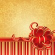 Golden Christmas background — 图库矢量图片