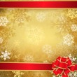 Golden Christmas background — Imagen vectorial