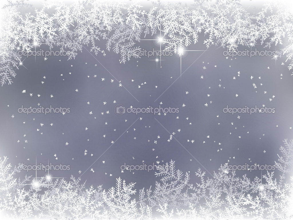 Winter background with fir branches and snow — Stock Vector #6597083