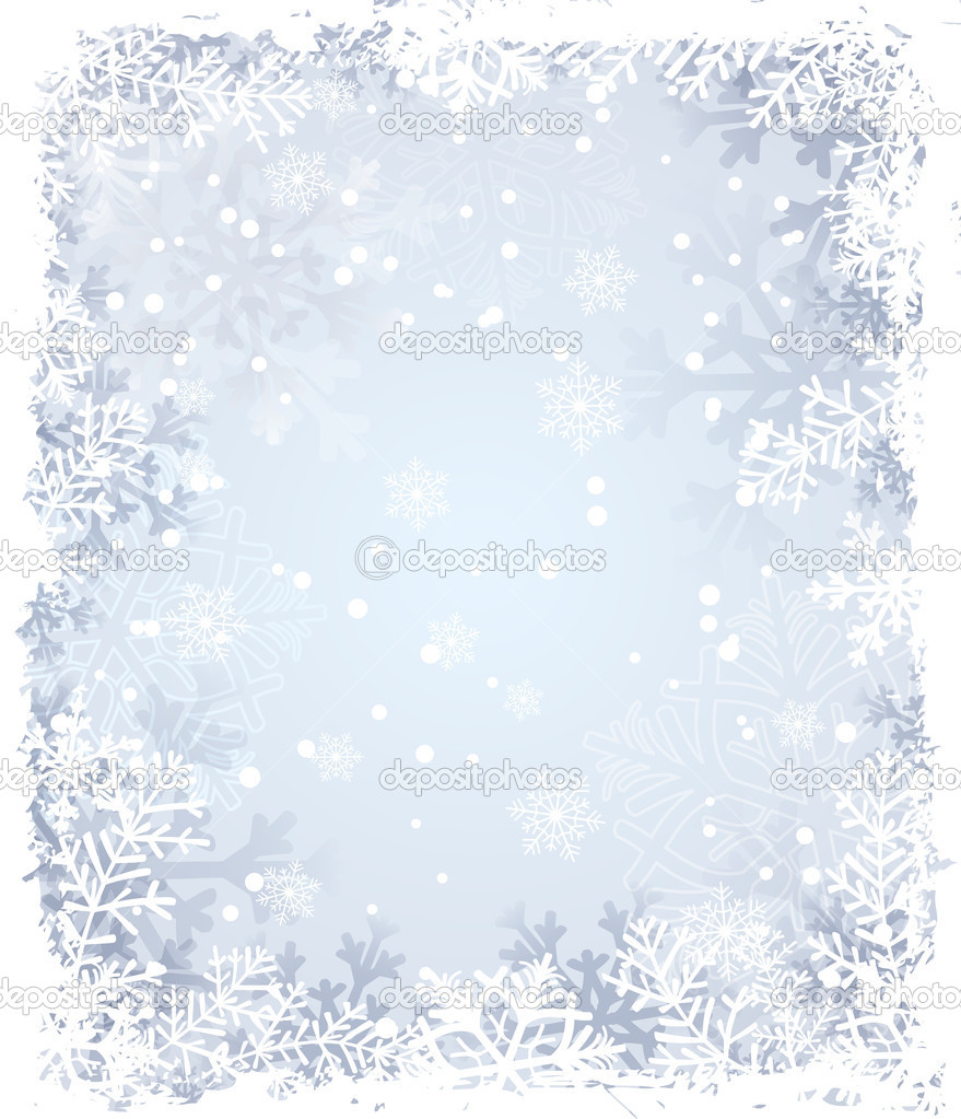 Winter background with snowflakes — Stock Vector #6597121