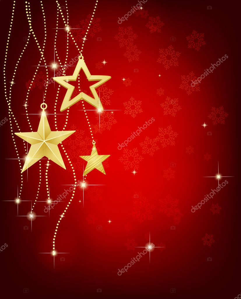 Christmas background with stars and lights — Stock Vector #6597122