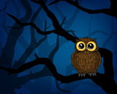 Cute little owl — Vector de stock