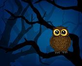 Cute little owl — Vector de stock