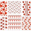 Floral patterns — Vettoriali Stock