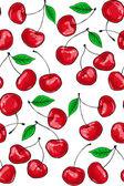 Patrón de cereza — Vector de stock