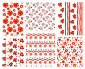 Floral patterns — Stock Vector