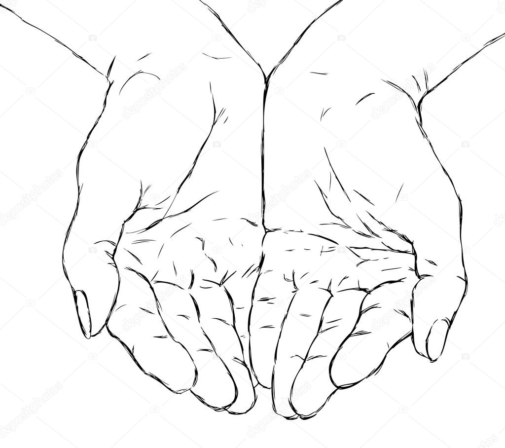 Рисуем протянутую руку