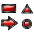 Stock Vector: 4 web buttons