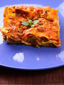 Plate with Lasagne — Stock Photo