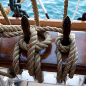 Two ropes control the sails — Stock Photo