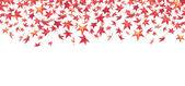 Feuilles d'automne rouge tombant — Photo