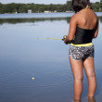 Young Girl Fishing — Stock Photo #6528666