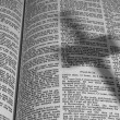 Bible with Shadow of a Cross — Photo