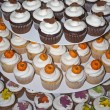 Royalty-Free Stock Photo: Cupcakes Decorated for Autumn