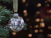 Believe Christmas Tree Ornament — Stock Photo