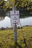 No Fishing Sign — Stock Photo