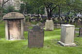 Cemetery at Trinity Church in New York — Stock Photo