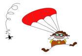 Parachutist (paracaidista) — Stock Vector