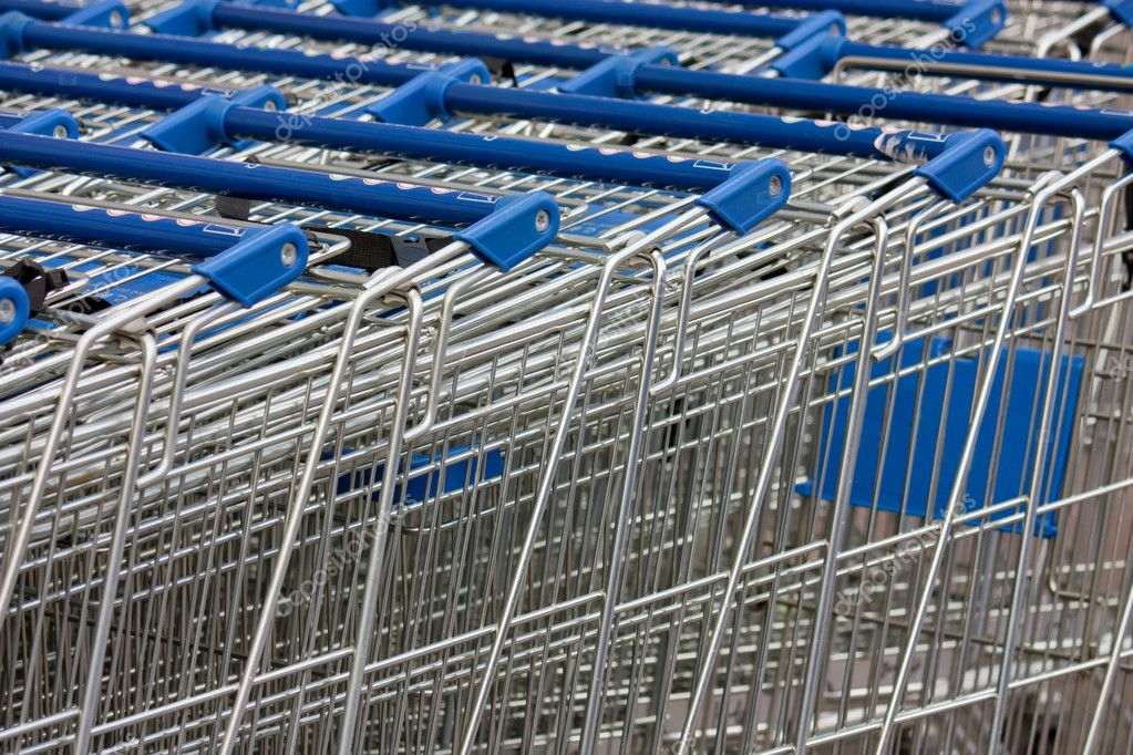 Shopping carts stacked up — Stock Photo #6598625