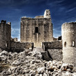 Stock Photo: Castle in sky - RoccCalascio - Aquila, Italy