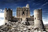 Zámek v oblacích - rocca calascio - aquila, itálie — Stock fotografie