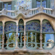 Glass of Casa Batllo by Gaudi - Barcelona — Stock Photo