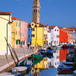 Colorful houses of Island of Burano, near Venice, Italy — Stock Photo