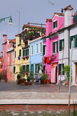 Colorful buildings at Burano, Venice - italy — Stock Photo