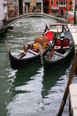 Traditional Venice gondola — Stock Photo